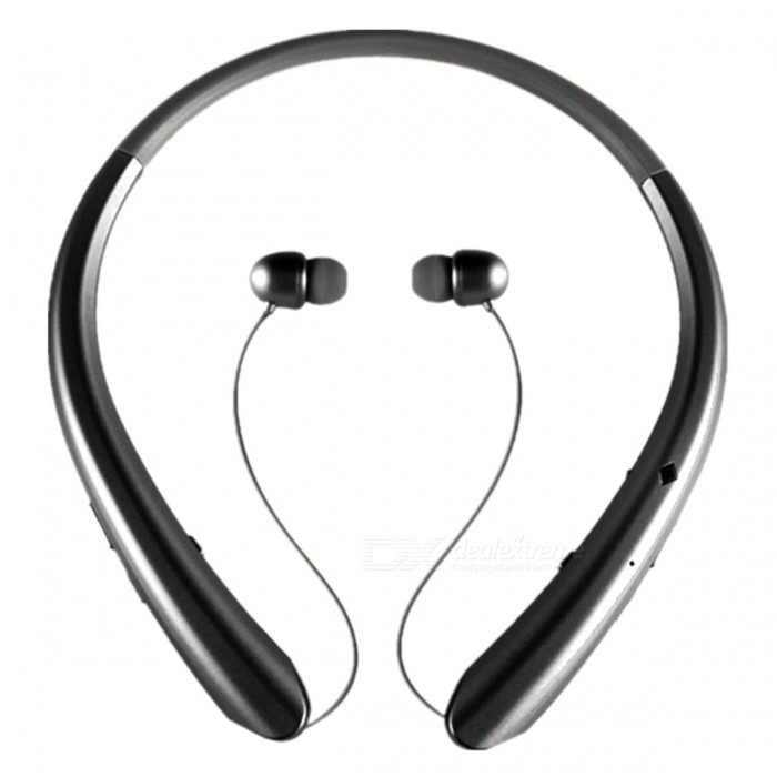 Sport Bluetooth Wireless Stereo Hals Headset Hörlurar - Svart