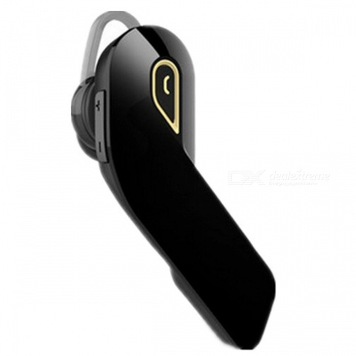 Buy Stylish Bluetooth Earphone Single-Ear Car Headset - Black + Gold with Litecoins with Free Shipping on Gipsybee.com