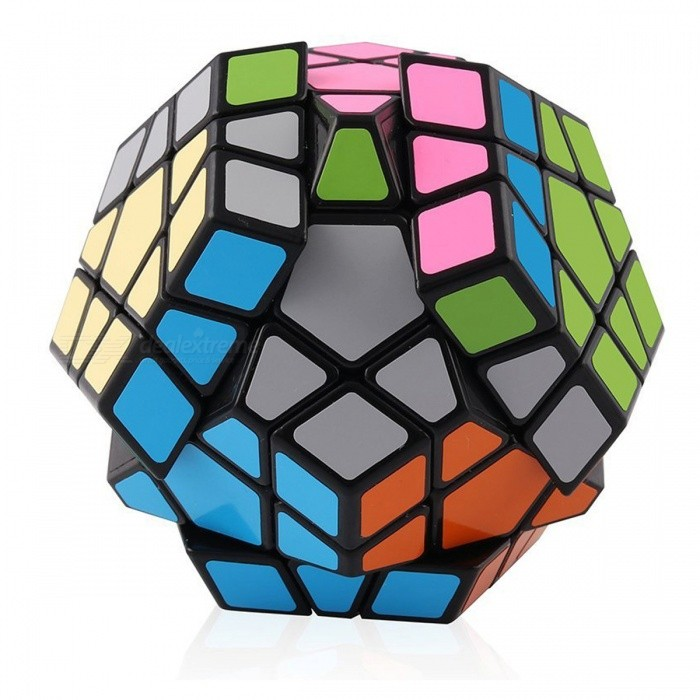 Shengshou 65mm Megaminx Smooth Speed Magic Cube Puzzle Toy - Black