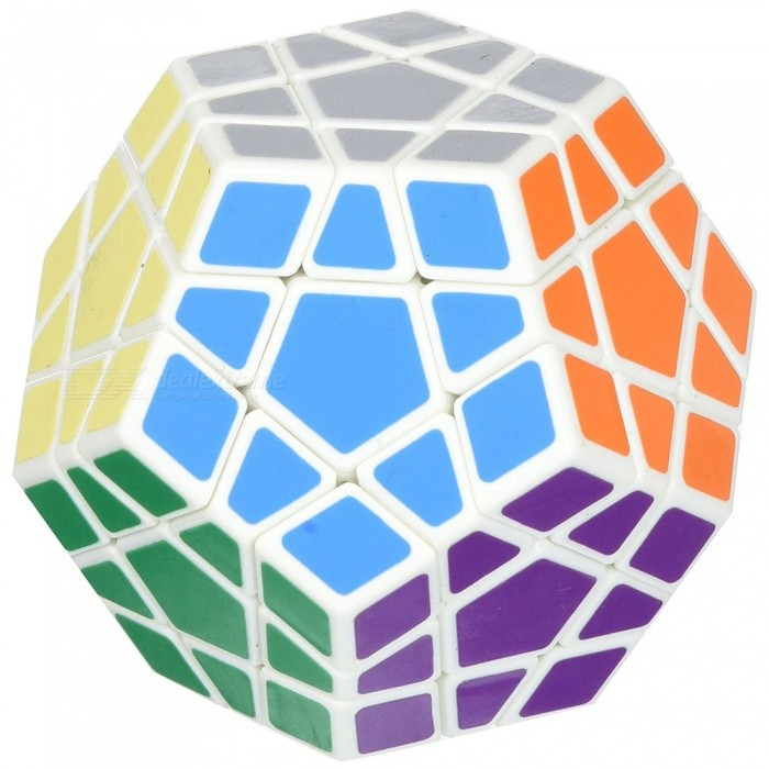 Shengshou 65mm Megaminx Smooth Speed Magic Cube Puzzle Toy - WhiteMagic IQ Cubes<br>Form  ColorWhiteMaterialABSQuantity1 DX.PCM.Model.AttributeModel.UnitTypeOthers, 65mm Suitable Age 3-4 years,5-7 years,8-11 years,12-15 years,Grown upsPacking List1 x Magic Cube<br>