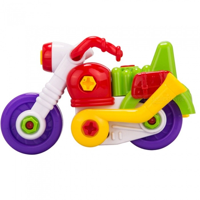 Assembled Motorcycle Model Toy for Kids