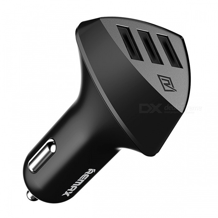 Remax Universal Car USB Charger with Triple USB Port - Black
