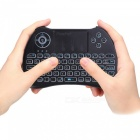 iPazzPort Mini Deutsch 2,4 G Wireless Keyboard mit Tri-Color-Hintergrundbeleuchtung