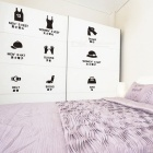 Removible DIY Wardrobe Logo publicado PVC Wall Sticker decorativo