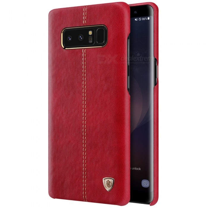 Nillkin Englon PU Leather Cover Case for Samsung Galaxy Note 8 - RedLeather Cases<br>Form  ColorRedModelNSXNOT8YS03MaterialPU leather + PCQuantity1 DX.PCM.Model.AttributeModel.UnitShade Of ColorRedCompatible ModelsSamsung Galaxy note 8FeaturesAnti-slip,Shock-proof,Abrasion resistance,Easy-to-removePacking List1 x NILLKIN Englon Leather Cover<br>