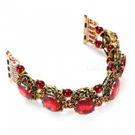 Vintage-Style-Wristband-for-iWatch-Red-Agate-(38cm)