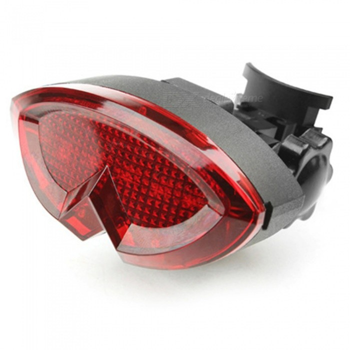 CARKING 7-Mode Bike Safety Warning Lamp Taillight - Red, Black