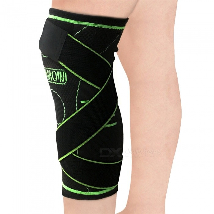 WOSAWE BC302 Bandage Pressurization Sport Knee Support - Black (S)Knee Pads<br>Form  ColorBlack (S)ModelBC302Quantity1 DX.PCM.Model.AttributeModel.UnitMaterialNylonSizeSPacking List1 x WOSAWE Sport Knee Support<br>