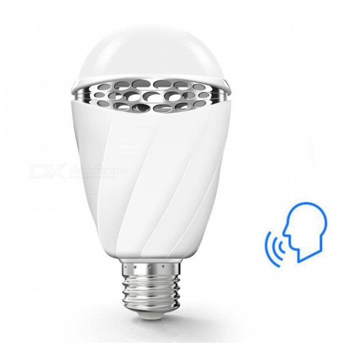 Smart AI Voice Control RGB LED-lampe, E27 3W 180LM