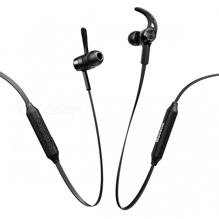 Baseus Magnetic Bluetooth Wireless Sport Earphone with Mic - BlackHeadphones<br>Form  ColorBlackBrandOthers,BaseusModelEncok-S06MaterialABS + TPUQuantity1 DX.PCM.Model.AttributeModel.UnitConnectionBluetoothBluetooth VersionBluetooth V4.1Operating Range10MCable Length80 DX.PCM.Model.AttributeModel.UnitHeadphone StyleBilateral,Earbud,In-Ear,Ear-hookWaterproof LevelOthers,SweatproofApplicable ProductsUniversalHeadphone FeaturesHiFi,Phone Control,Magnetic Adsorption,Volume Control,With Microphone,Lightweight,Portable,Game Headset,For Sports &amp; ExerciseSupport Memory CardNoSupport Apt-XYesSNR93±3dBSensitivity93±3dBFrequency Response20-20000HzImpedance32 DX.PCM.Model.AttributeModel.UnitBattery TypeLi-ion batteryBuilt-in Battery Capacity 100 DX.PCM.Model.AttributeModel.UnitStandby Time200 DX.PCM.Model.AttributeModel.UnitTalk Time10 DX.PCM.Model.AttributeModel.UnitMusic Play Time8 DX.PCM.Model.AttributeModel.UnitPacking List1 x Wireless Bluetooth Headset1 x USB Charging Cable<br>