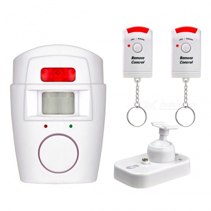 Buy Home  PIR MP Alert Infrared Sensor Anti-theft Motion Detector - White with Litecoins with Free Shipping on Gipsybee.com
