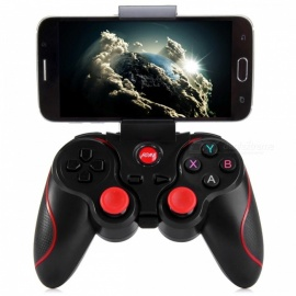 Wireless Joystick Bluetooth 3.0 Android Gamepad + Holder - Black