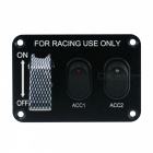 IZTOSS S2690-Z 12V 3-Set Switch Panel with Light for Racing Use
