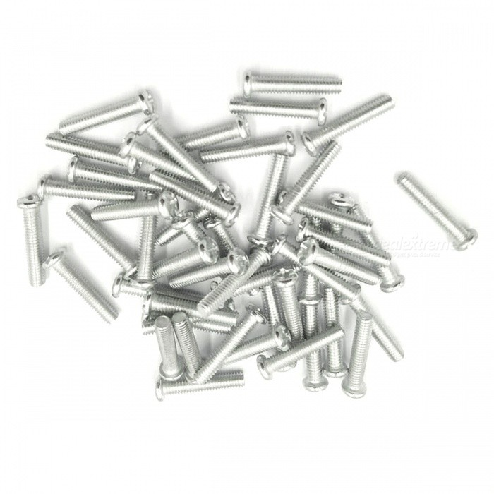 ZHAOYAO Stainless Steel Screws (50 PCS)DIY Parts &amp; Components<br>Form  ColorWhite SilverQuantity50 DX.PCM.Model.AttributeModel.UnitMaterialStainless steelEnglish Manual / SpecNoCertificationNoPacking List50 x Stainless Steel Screws<br>