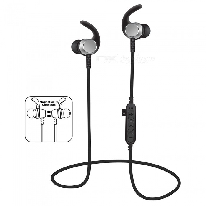 Buy Noise Cancelling Bluetooth Wireless Sports Headset with TF Slot - Grey with Litecoins with Free Shipping on Gipsybee.com
