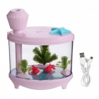 460ml-Ultrasonic-Cool-Mist-Humidifier-with-Night-Light-for-Home-Pink