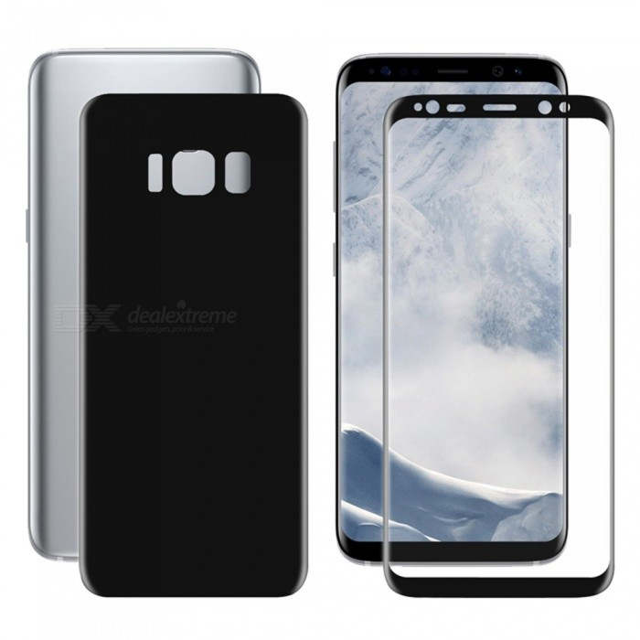Hat-Prince 2PCS 3D Full Screen Protector for Samsung Galaxy S8 - Black
