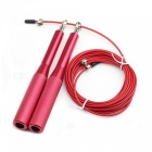 Professional Aluminum High Speed Bearing Skipping Rope - Red