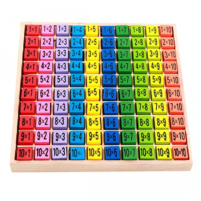 99 Multiplication Table Math Wooden Toy for Baby