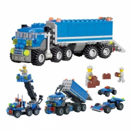 163Pcs Plastic Truck Building Blocks Educational Toy for Kids Children