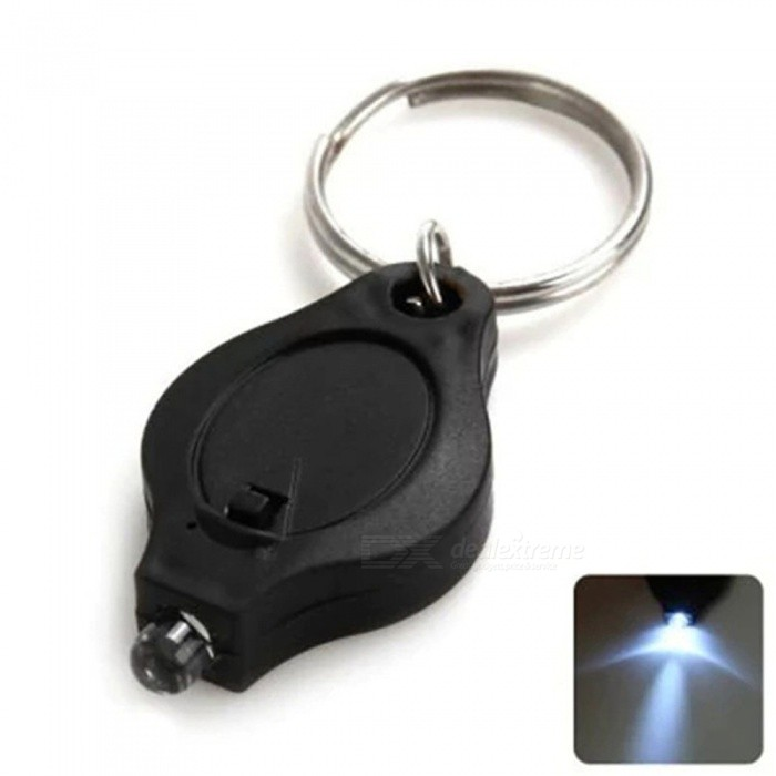Mini LED Keychain Finger Light - BlackLED String<br>Form  ColorBlack + SilverColor BINNeutral WhiteMaterialPVCQuantity1 DX.PCM.Model.AttributeModel.UnitPowerOthers,0.3WRated VoltageOthers,3 DX.PCM.Model.AttributeModel.UnitEmitter TypeLEDTotal Emitters1Wavelength365nm/395nmTheoretical Lumens10 DX.PCM.Model.AttributeModel.UnitActual Lumens5 DX.PCM.Model.AttributeModel.UnitPower AdapterOthers,CR2016*2Packing List1 x LED Light<br>