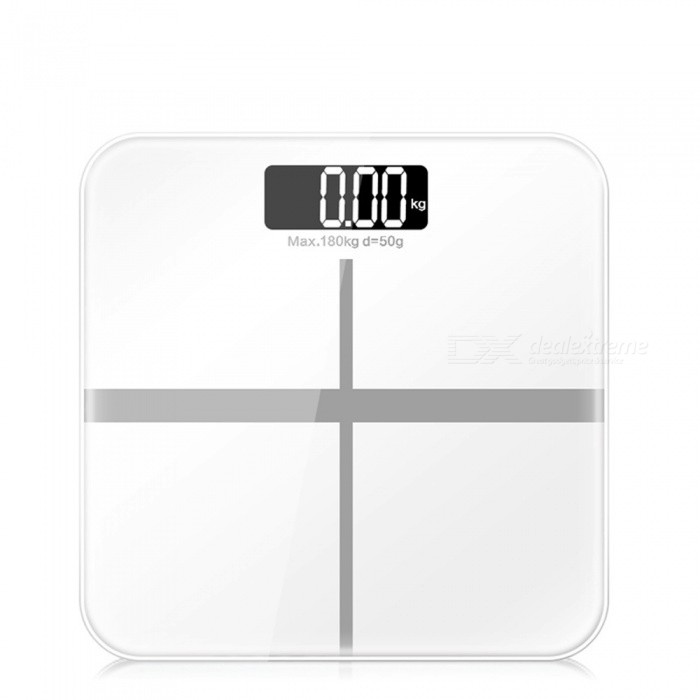 ZHAOYAO Slim Household Electronic Weight Scale with HD LCD Display - White
