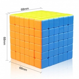 Cyclone Boys 68mm 6x6x6 Stickerless Speed Magic Cube Puzzle Toy for Kids