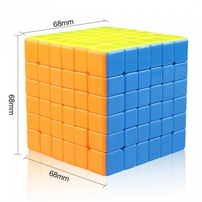 Cyclone Boys 68mm 6x6x6 Stickerless Speed Magic Cube Puzzle Toy for Kids - Multicolour