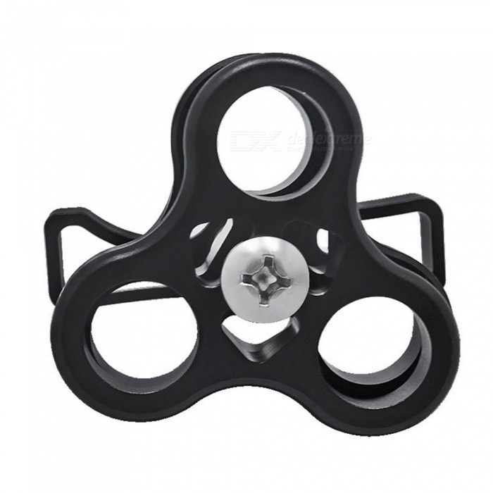 SPO Aluminum Alloy Three-Hole Diving Butterfly Clip Bracket for Flashlight