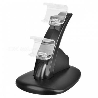 Dual Controllers Charger Charging Dock Stand Station for Sony PlayStation 4 - Black