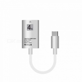 USB 3.1 Type-C USB-C to HDMI 4K 30Hz HD Cable Converter - White