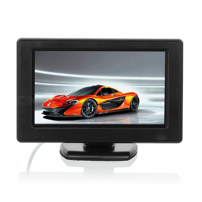 "Car 4.3"" Color TFT LCD Screen Rearview Parking Backup Monitor for Reverse Camera DVD"