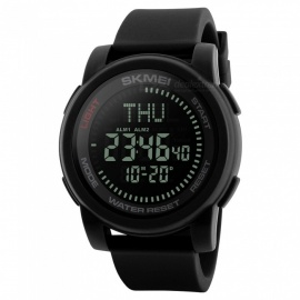 SKMEI-1289-Mens-50M-Waterproof-Digital-Sports-Compass-Watch-with-EL-Light
