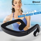 Sports Bone Conduction Earphones Bluetooth Wireless Stereo Headset Headphones - Black
