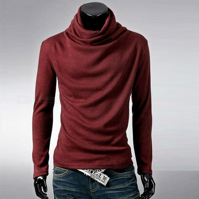Stylish Mens Casual Slim Long-sleeved T-shirt Blouse - Wine Red (XXL)Hoodies &amp; Sweatshirts<br>Form  ColorClaret RedSizeXXLQuantity1 DX.PCM.Model.AttributeModel.UnitShade Of ColorRedMaterialCottonPatternNOStyleCasualShoulder Width44 DX.PCM.Model.AttributeModel.UnitChest Girth108 DX.PCM.Model.AttributeModel.UnitWaist Girth94 DX.PCM.Model.AttributeModel.UnitSleeve Length58 DX.PCM.Model.AttributeModel.UnitTotal Length65 DX.PCM.Model.AttributeModel.UnitSuitable for Height160-185 DX.PCM.Model.AttributeModel.UnitPacking List1 x T-shirt<br>