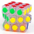 YJ LingGan 60mm 3x3x3 Smooth Speed Magic Cube Puzzle Toy for Kids, Adults - Translucent White