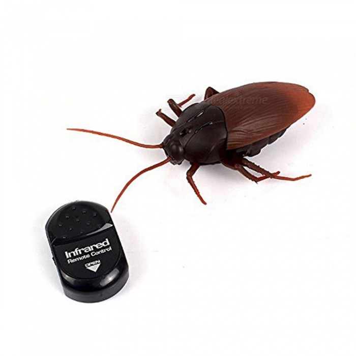 Infrared Cockroaches Remote Control Mock Fake Animal Funny ToyPractical Joke Gadgets<br>Form  ColorBlack + BrownMaterialABSQuantity1 DX.PCM.Model.AttributeModel.UnitSuitable Age 13-24 months,3-4 years,5-7 years,8-11 years,12-15 years,Grown upsPacking List1 x Toy<br>