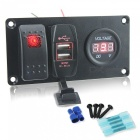 IZTOSS-S1942-Z-DIY-Switch-Panel-Combination-Red-Switch-2b-USB-Car-Charger-2b-Digital-Voltmeter-for-Car-Trailer-Yacht-(127e24V)