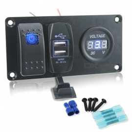 Auto-Car-Refitting-Switch-Panel-Combination-Switch-2b-USB-Car-Charger-2b-Digital-Voltmeter-for-Ship-Bus