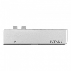 MINIX-NEO-C-D-USB-C-Multiport-Adapter-for-MacBook-Pro-Silver