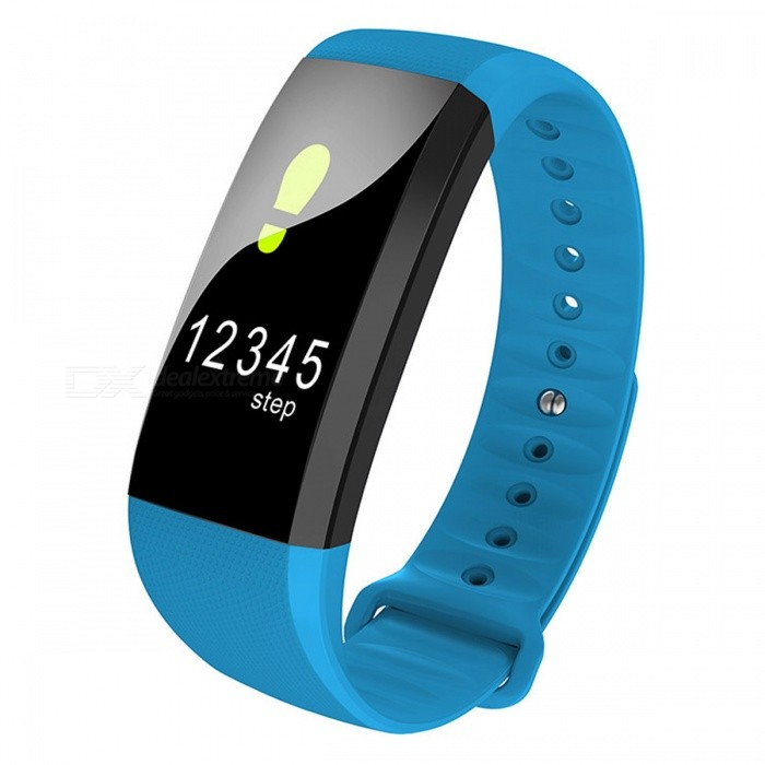 M99 Color Screen Smart Bracelet with Real-time Heart Rate Monitor - BlueSmart Bracelets<br>Form  ColorBlue + BlackModelM99Quantity1 DX.PCM.Model.AttributeModel.UnitMaterialABSShade Of ColorBlueWater-proofIP67Bluetooth VersionBluetooth V4.0Touch Screen TypeYesCompatible OSAndroid system 4.4 version or above ;iOS system 8.0 version or above ;Support  bluetooth with 4.0 versionBattery Capacity90 DX.PCM.Model.AttributeModel.UnitBattery TypeLi-polymer batteryStandby Time5-7 DX.PCM.Model.AttributeModel.UnitPacking List1 x Smart Band1 x User manual<br>