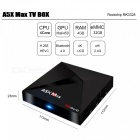 A5X MAX Android 7.1 Smart TV Box RK3328 4GB 32GB 4K Set Top Tox - EU Plug