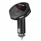 Q7 Bluetooth Car Kit FM Transmitter, MP3 Player, Car Charger with Double USB Ports - Black