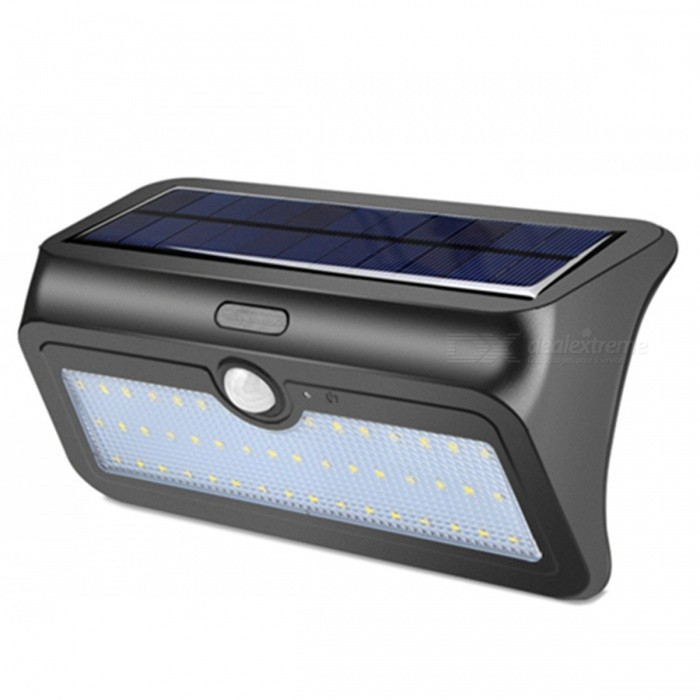 ZHAOYAO Outdoor 13.8W Solar Powered 48-LED Light IP65 Waterproof White Solar Panel LampSolar Lamps<br>Form  ColorBlack + Grey / 48-LEDModel48LMaterialABS + PCQuantity1 DX.PCM.Model.AttributeModel.UnitWaterproof LevelIP65Emitter TypeOthers,2835SMDPower13.8 DX.PCM.Model.AttributeModel.UnitWorking Voltage   5.5V DX.PCM.Model.AttributeModel.UnitBattery Capacity2200 DX.PCM.Model.AttributeModel.UnitLumens450 DX.PCM.Model.AttributeModel.UnitWorking Time7-8 DX.PCM.Model.AttributeModel.UnitPacking List1 x Solar Lamp1 x Pin2 x Screws2 x Stoppers<br>