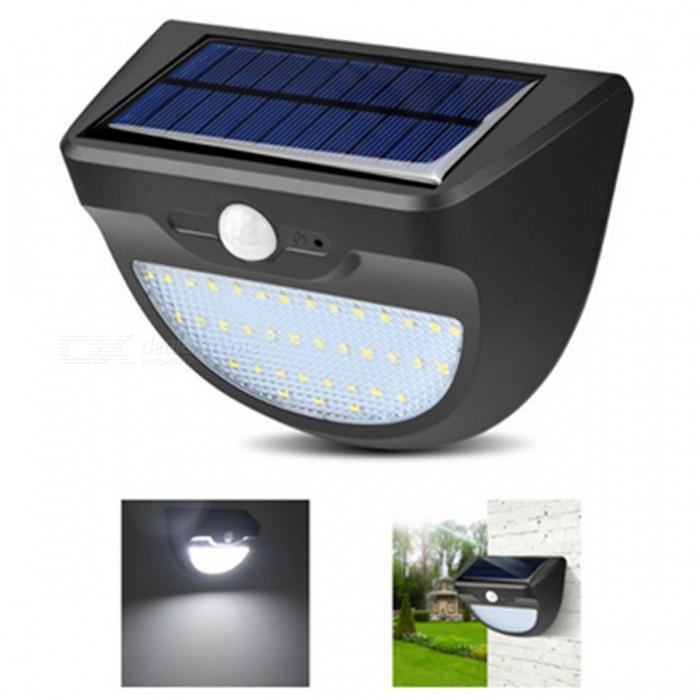 ZHAOYAO Outdoor 11.2W Solar Powered 37-LED Light IP65 Waterproof White Solar Panel LampSolar Lamps<br>Form  ColorBlack + White / 37-LEDModel37LMaterialABS+PCQuantity1 DX.PCM.Model.AttributeModel.UnitWaterproof LevelIP 65Emitter TypeOthers,2835SMDPower11.2 DX.PCM.Model.AttributeModel.UnitWorking Voltage   5.5V DX.PCM.Model.AttributeModel.UnitBattery Capacity2200 DX.PCM.Model.AttributeModel.UnitLumens450 DX.PCM.Model.AttributeModel.UnitWorking Time7-8 DX.PCM.Model.AttributeModel.UnitPacking List1 x Solar lamp1 x Pin2 x Screws2 x Stoppers<br>