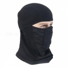 Outdoor Unisex Breathable Sports Headgear Head Hood Cover - Black