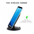 M8 10W Fast Charge Qi Wireless Charger Stand for Samsung S8 Samsung S8+ IPHONE 8 IPHONE 8 PLUS - Black