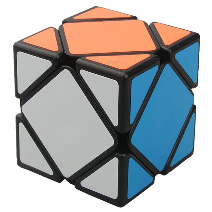 YJ Guanlong 57mm Skewb Smooth Speed Magic Cube Puzzle Toy - Black
