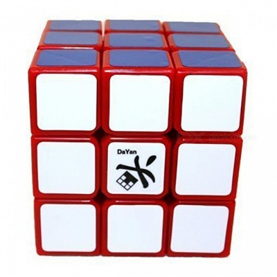 DaYan LingYun Speed Cube 3x3 Smooth Magic Cube Puzzles Toy 56mm Brain Teaser Educational Toy for Kids - Red