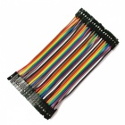 Female to Female 40-Pin DuPont Wire Jump Wire Cable Line for Electronic DIY - Multicolor (10CM / 40PCS)
